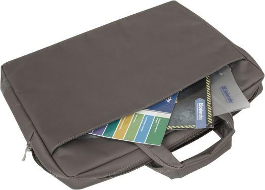 "Сумка для ноутбука Defender Onda 15''-16"" серый, органайзер, карманы"