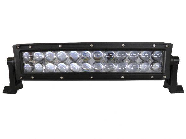 Двухрядная светодиодная LED фара с 4D линзой - 72W CREE