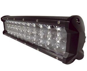 Двухрядная светодиодная LED фара с 4D линзой - 72W CREE дальний свет