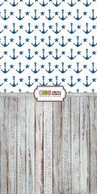 """Фон """"Blue anchor"""" 3x1,5 (3,5x1,5 м)"""