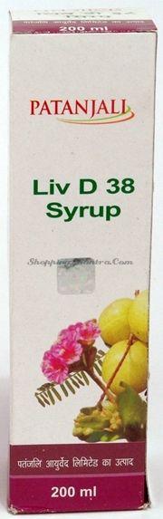 Liv D38  сироп для здоровья печени Патанджали Аюрведа / Divya Patanjali Liv D38 Syrup