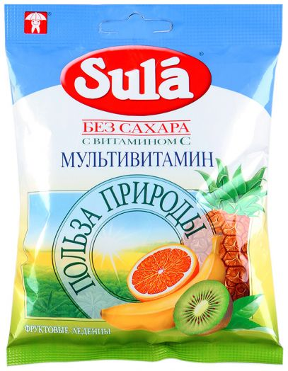 Леденцы sula без сахара (мультивитамин) 60г