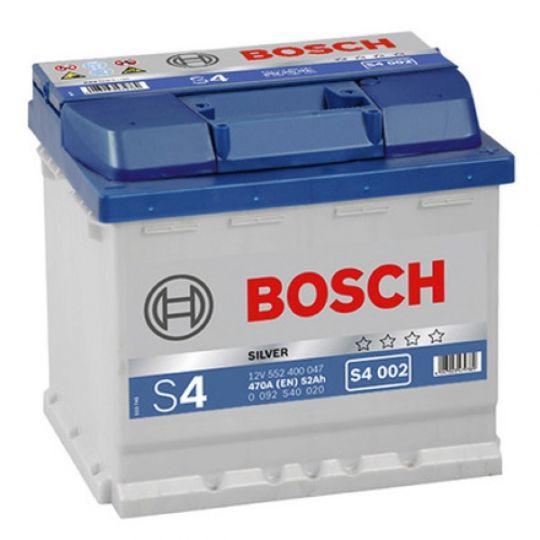 Автомобильный аккумулятор АКБ BOSCH (БОШ) S4 002 / 552 400 047 S4 Silver 52Ач о.п.