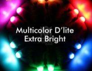D'Lite напальчники - 6 цветов - на аккумуляторе - с адаптером