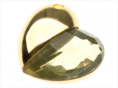 32GB USB-флэш корпус для накопитель Apexto UU-50 сердце стеклянное золотое
