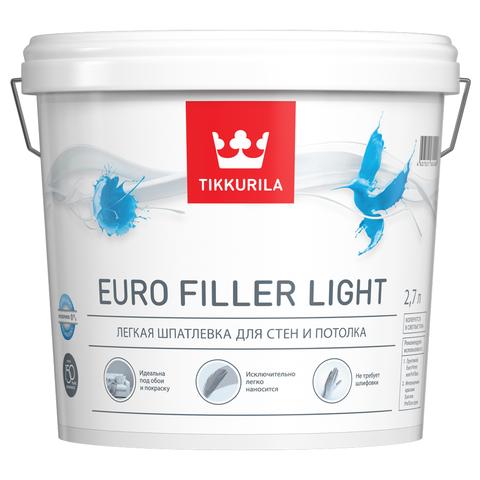 Euro Filler Light - легкая шпатлевка для стен и потолка.