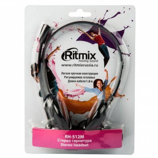 Мониторные наушники с микрофоном Ritmix RH-512M