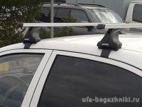 Багажник на крышу Toyota Camry XV50 2012-..., Атлант: прямоугольные дуги и опоры типа Е