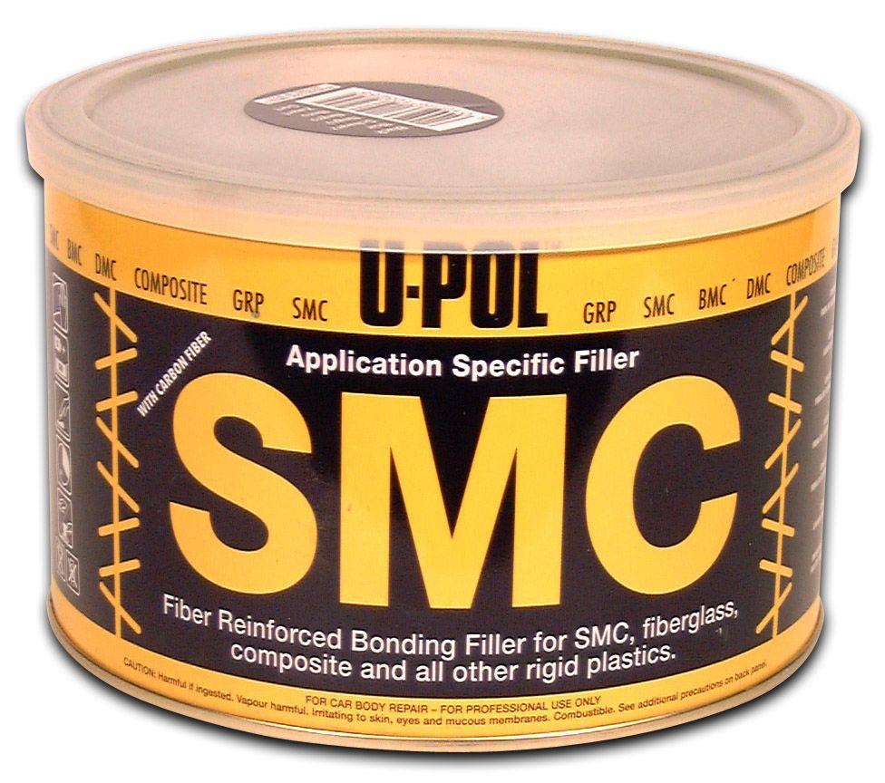 U-Pol SMC Carbon Легкошлифуемая шпатлевка с углеволокном, черная, 1,1л.