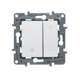 Светорегулятор нажим. 400Вт ETIKA бел.672218