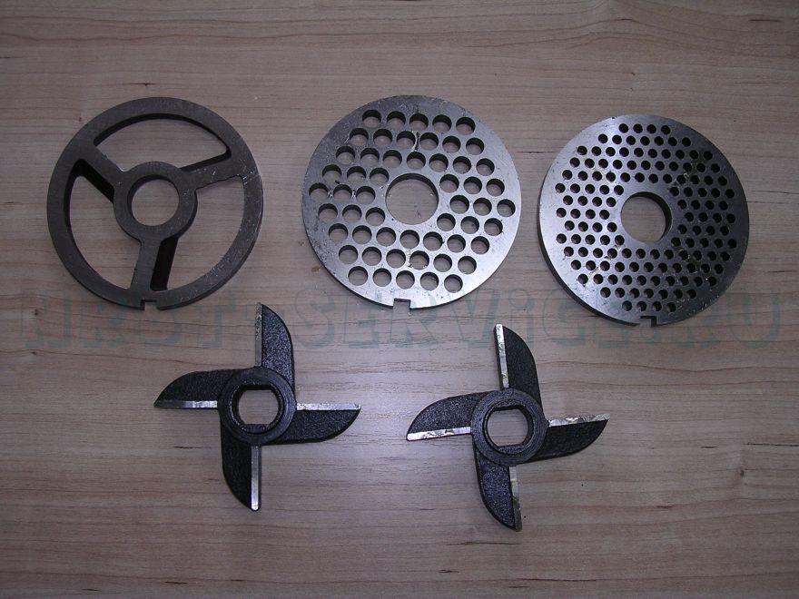 Мясорубка пром. МИМ-600 Комплект ножей и решеток (с/буртом), ,
