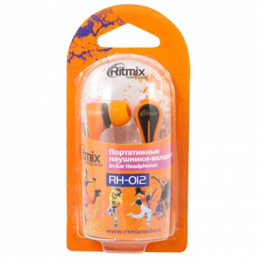 Наушники вакуумные RITMIX RH-012 Orange