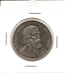 Игнатий Лукашевич (1822-1882) 50 злотых Польша  1983 UNC