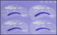 Трафареты для бровей 4 шт различной формы