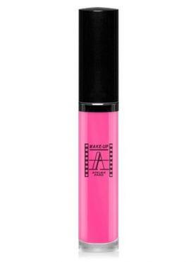 Make-Up Atelier Paris Long Lasting Lipstick RW11 Rose gaga Блеск - тинт для губ суперстойкий (роза Гага) розовый переливающийся