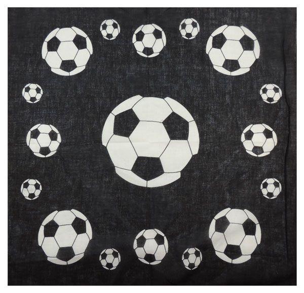 Бандана с футбольными мячами