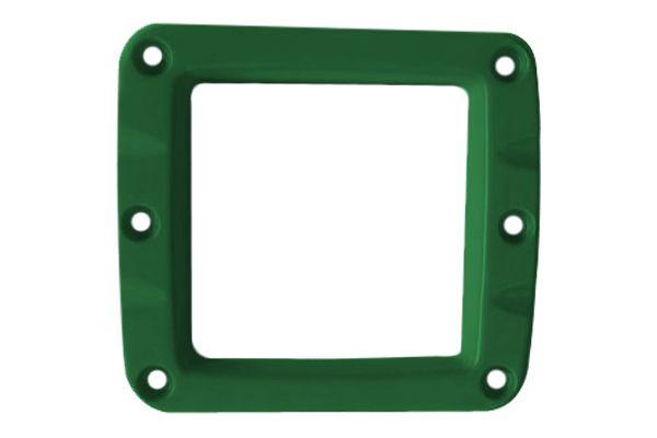 Зеленая декоративная алюминиевая накладка для 2-х дюймовых фар