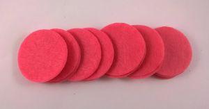 Фетровый пяточек 30мм, 1уп = 200шт, цвет: ярко-розовый