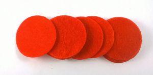 Фетровый пяточек 35мм, 1уп = 200шт, цвет: красный