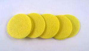 Фетровый пяточек 35мм, 1уп = 200шт, цвет: светло-желтый