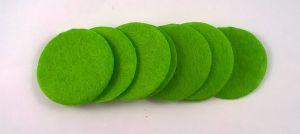 Фетровый пяточек 35мм, 1уп = 200шт, цвет: светло-зеленый
