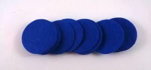 Фетровый пяточек 35мм, 1уп = 200шт, цвет: синий