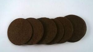 Фетровый пяточек 35мм, 1уп = 200шт, цвет: коричневый
