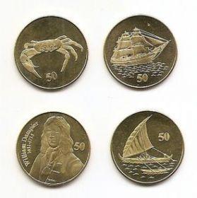 Набор монет Острова Рождества 2016 (4 монеты)