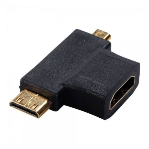 Переходник Smartbuy HDMI F-miniHDMI M-microHDMI M (A119)