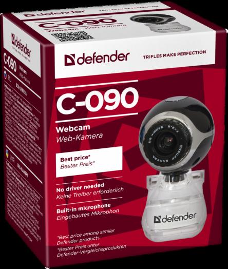 Web-камера Defender C-090 0.3МП, черный