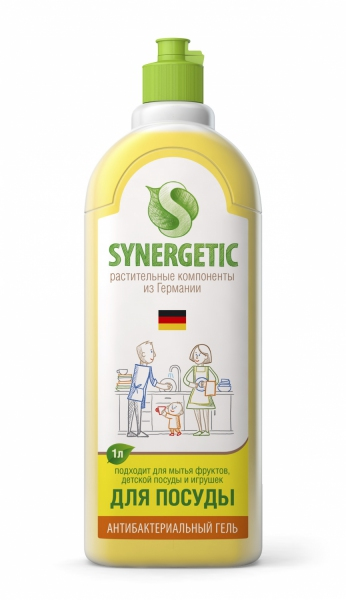 Концентрированное средство для мытья посуды и фруктов Synergetic в ассортименте