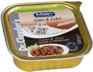 Dr. Clauder's Кусочки в соусе с гусем и печенью (лам. 100 г)