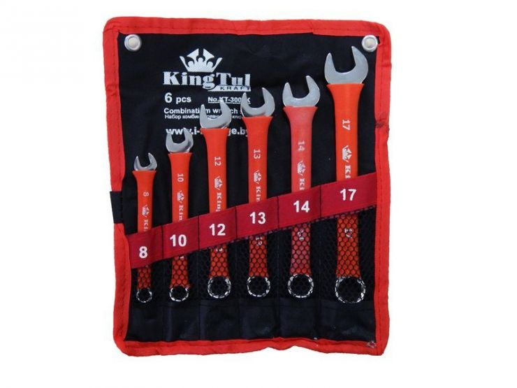 Набор ключей комбинированных 6пр. (8,10,12,13,14,17мм) на полотне