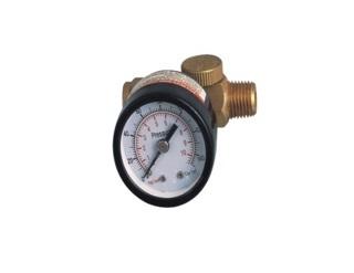 Регулятор мини с индикатором давления резьба 1/4' (0-10bar)