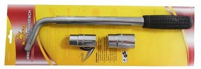 Набор для откручивания колес легкового а/м 3пр. (ключ балонный телескопический 320-550мм с головками 17/19мм, 21/23мм) в блистере