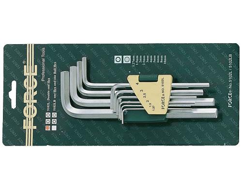 Набор ключей 6-гранных Г-образных длинных 10пр.(1.27, 1.5, 2, 2.5, 3-6, 8, 10мм)в пластиковом держателе