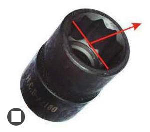 1/2' головка для снятия/установки заднего продольного рычага (10-гран., 20мм) (Honda CR-V)