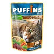 PUFFINS Для кошек Телятина с печенью в желе (100 г)