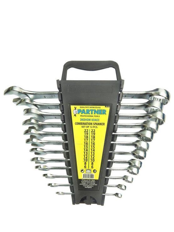Набор ключей комбинированных 12 пр.(6,8,10,12-19) в пластиковом держателе