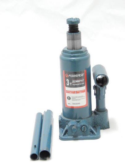 Домкрат бутылочный  3 т с клапаном (h min 180мм, h max 340мм,вес 3,2 кг)