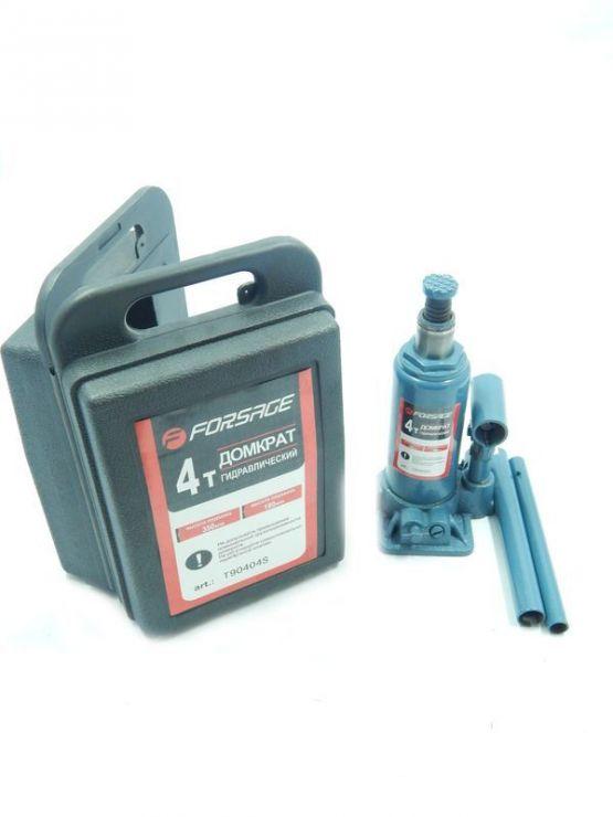 Домкрат бутылочный  4 т с клапаном  (h min 194мм, h max 372мм) в кейсе