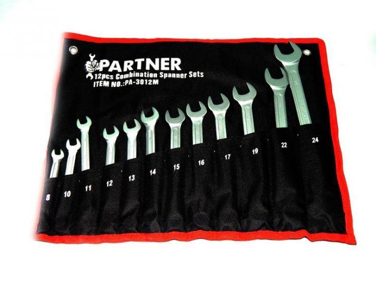 Набор ключей комбинированных 12пр. (8,10-17,19,22,24) на полотне