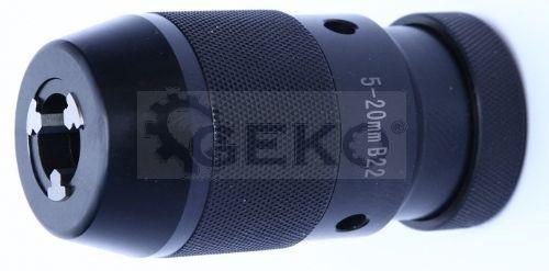 Патрон сверлильный 5-20мм В22 с ключиком 'Geko'