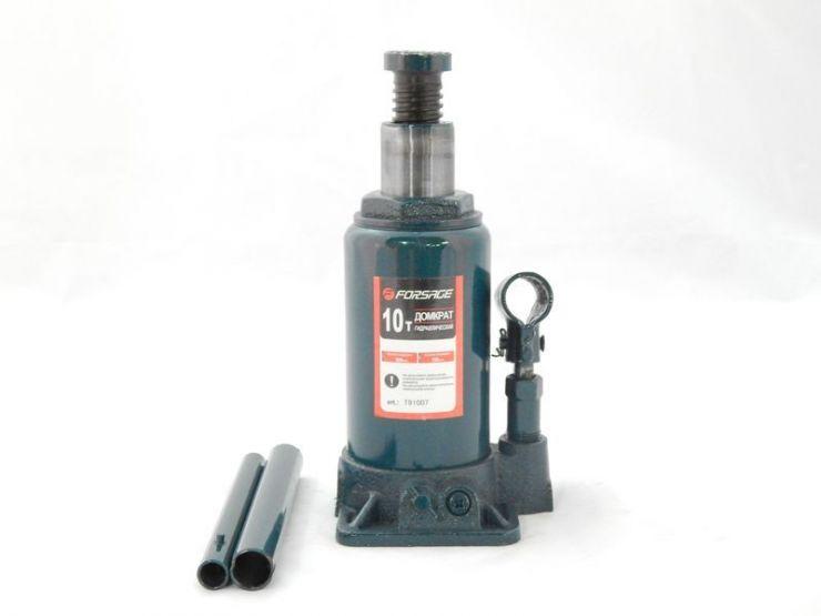 Домкрат бутылочный 10т низкий  с клапаном (h min 190мм, h max 360мм)