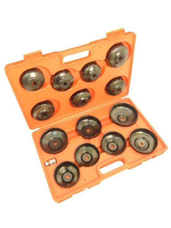 Набор съемников масляных фильтров 14пр. (крышки) в кейсе