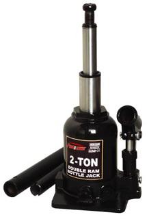 Домкрат бутылочный с двумя штоками,  2т с клапаном (h min 150мм, h max 370мм)
