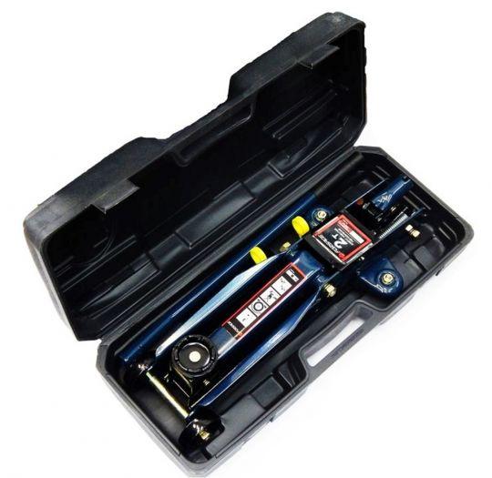 Домкрат подкатной  2 т (h min 135мм, h max 385мм) в кейсе