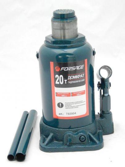 Домкрат бутылочный 20т с клапаном (h min 242мм, h max 452мм)