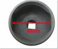 Съемник ступичных колпаков для грузовых а/м (3/4', овальная, 95мм)
