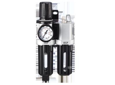 Блок подготовки воздуха (фильтр тонкой очистки + регулятор + маслодобавитель) 1/4' Пропускная способность 1100 л/мин